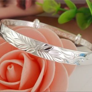 Jewelry - 925 Stamped SS Adjustable Bangle